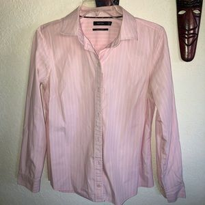 Nautica  Pink and White striped Button down